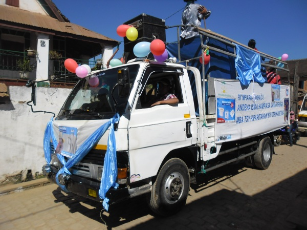The Tana team's mobile sanitation marketing strategy