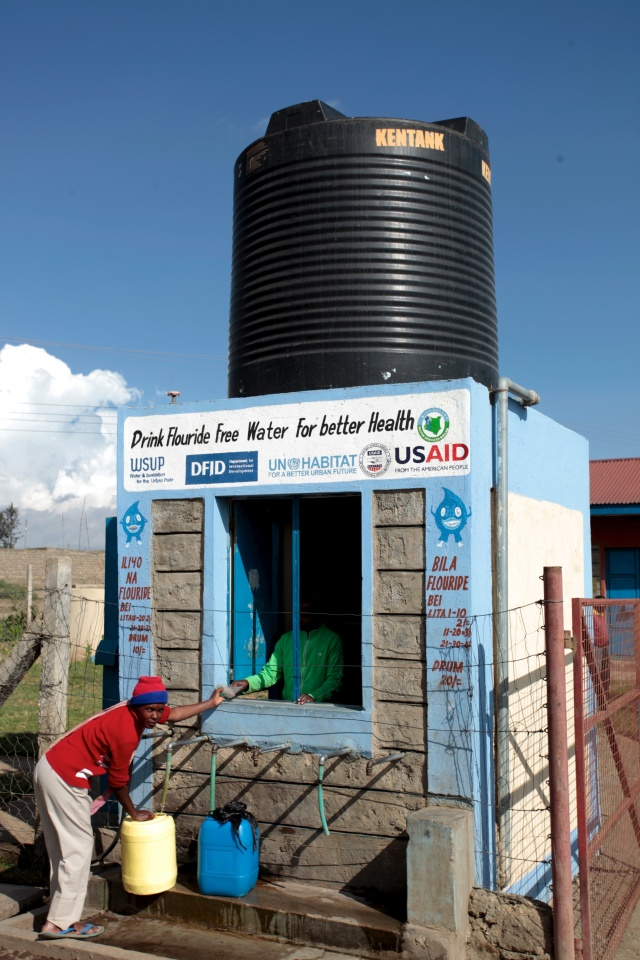 One of our kiosks in Naivasha, where queuing is less of a problem, partly due to lower population density
